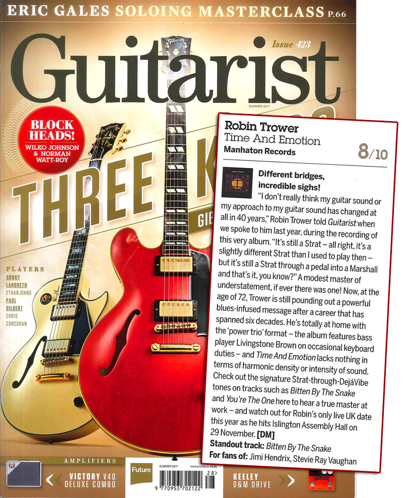 Robin trower Guitarist Magazine